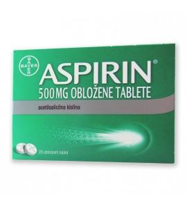 ASPIRIN 500 mg tablete, 20 obloženih tablet