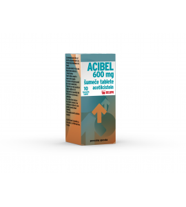 Acibel 600mg šumeče tablete, 10 šumečih tablet