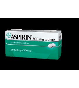 Aspirin 500 mg, obložene tablete 50x