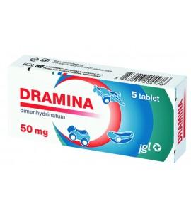 Dramina 50 mg, 5 tablet