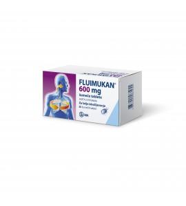 Fluimukan 600mg, 20 šumečih tablet