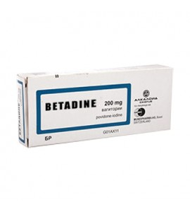 Betadine 200 mg, vaginalne globule