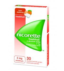 Nicorette Freshfruit 2mg, 30 žvečilnih gumijev