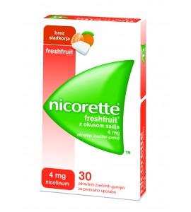 Nicorette Freshfruit 4mg, 30 žvečilnih gumijev