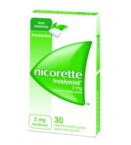 Nicorette Freshmint 2mg, 30 žvečilnih gumijev