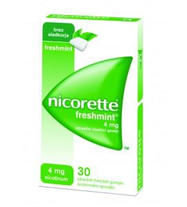 Nicorette Freshmint 4mg, 30 žvečilnih gumijev