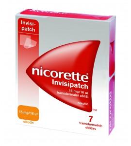 Nicorette Invisipatch 15mg/16 ur, 7 transdermalnih obližev