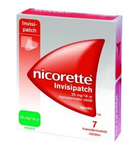 Nicorette Invisipatch 25mg/16 ur, 7 transdermalnih obližev