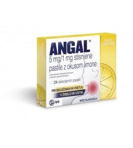 Angal z okusom limone 5mg/1mg, 24 pastil
