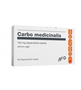 Carbo Medicinalis 150mg, 30 disperzibilnih tablet