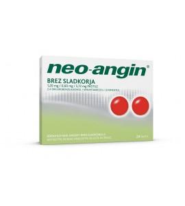 Neo-angin brez sladkorja, 24 pastil