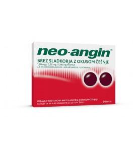 Neo-angin brez sladkorja z okusom češnje, 24 pastil