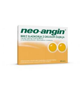 Neo-angin brez sladkorja z okusom žajblja, 24 pastil