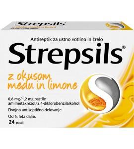 Strepsils z okusom medu in limone, 24 pastil