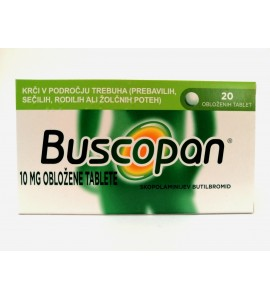 Buscopan 10mg, 20 obloženih tablet